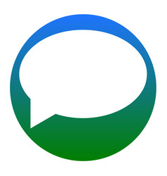 speech bubble icon white icon in bluish vector image