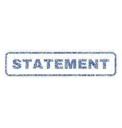 Statement textile stamp vector