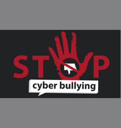 stop cyber bullying banner graphic design for vector image