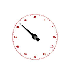 Stopwatch dial with hand vector