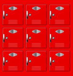 Storage safe lockers red section vector
