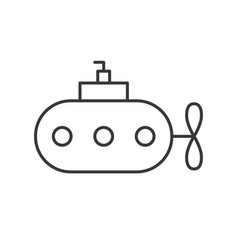 Submarine outline icon on white background vector