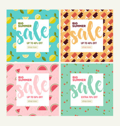 summer sale set of social media banners vector image
