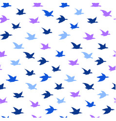 swallow birds seamless pattern with birds vector image