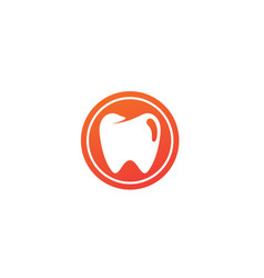 teeth care symbol in circle for dentist vector image