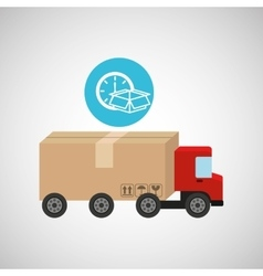 transportation delivery package vector image