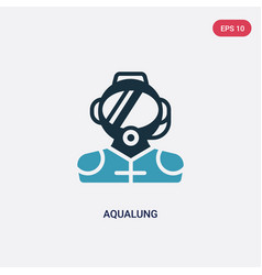 Two color aqualung icon from nautical concept vector