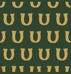 U from alfabet repeat pattern print background vector