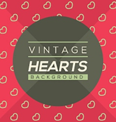 Vintage Hearts Background vector image