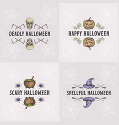 vintage style halloween headline or title vector image