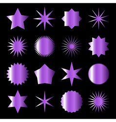 Violet stars vector