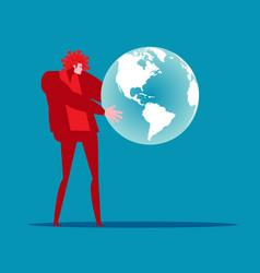 virus interpreters around world vector image