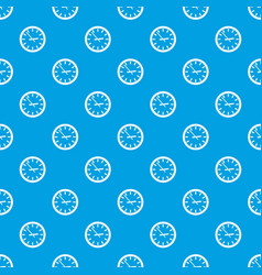 watch pattern seamless blue vector image