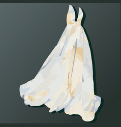 wedding dress watercolor 2 vector image
