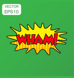 Wham comic sound effects icon business concept vector