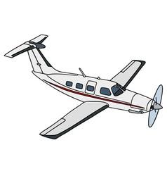 White propeller airplane vector