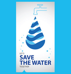 world water day poster vector image