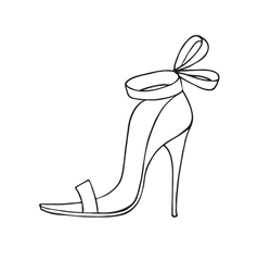Female shoe icon vector