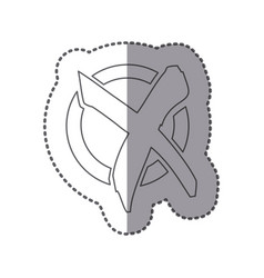figure symbol round with wrong mark icon vector image