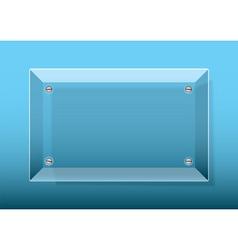 glass plaque blue vector image