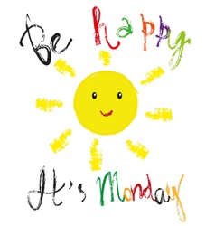 Monday greeting vector image vector image