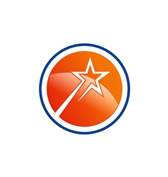 star shine abstract round logo vector image vector image