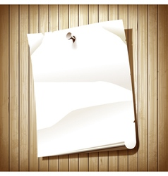 Blank paper page vector image vector image