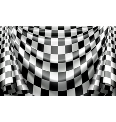 Checkered Curtain vector image