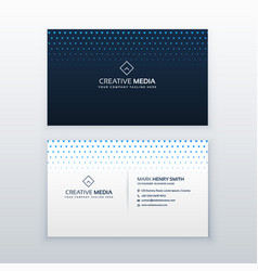Clean business card design template vector