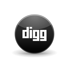 Digg icon simple style vector image