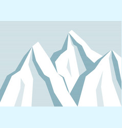 line mountain background vector image vector image