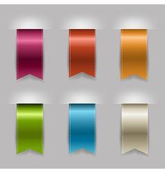 Realistic Ribbon Set vector image vector image