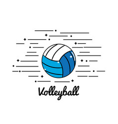 symbol volleyball play icon vector image vector image