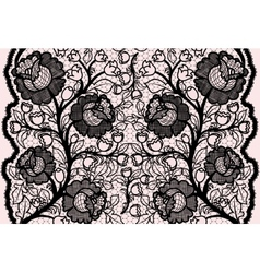 Abstract seamless black lace ribbon with feminine vector image vector image