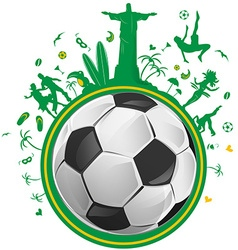 brazil symbol with soccer ball vector image