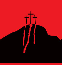 Calvary and crosses vector