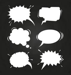 cartoon speech balloons collection on chalkboard vector image vector image