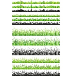 Seamless grass set vector image vector image