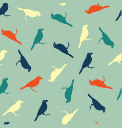 seamless pattern with color birds vector image vector image