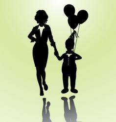 woman and boy vector image