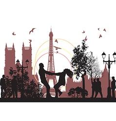 honeymoon in Paris vector image