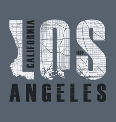 los angeles t-shirt and apparel design vector image vector image