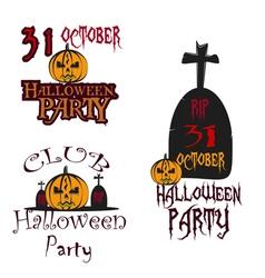 Party Halloween Poster logos vector image vector image