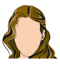 silhouette faceless woman fashion hairstyle vector image