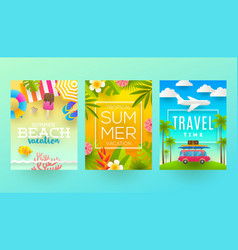 summer holidays and tropical vacation design vector image vector image