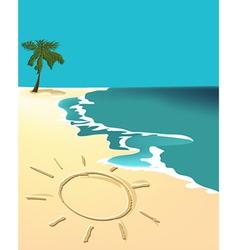 Sunny holiday beach vector image vector image