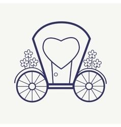 Wedding Outline carriage icon set Elegant vector image