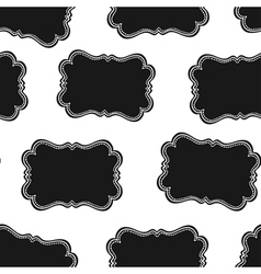 western labels seamless pattern vector image vector image