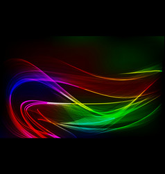abstract design-bright wave isolated on dark vector image