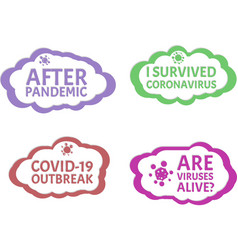After pandemic i survived coronavirus covid-19 vector